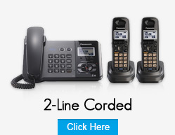 Panasonic 2 Line Corded Phones