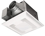 """""""Panasonic FV-08VFL4, The Panasonic FV-08VFL4 Bathroom Exhaust Fan with Light features a totally enclosed condenser motor and a large, double suction blower wheel to quietly move air"""