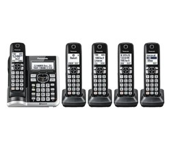 Panasonic 5  Handsets Cordless Phones panasonic kx tg785sk