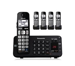 Panasonic Single Line Cordless Phones 5 Handsets panasonic kx tge245b