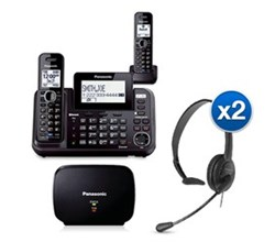 Panasonic Extended Range Cordless Phones KX TG9542B