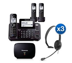 Panasonic DECT 6 Multi Line Phones KX TG9542B 1  KX TGA950B Bundle
