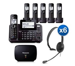 Panasonic DECT 6 Multi Line Phones panasonic KX TG9542B 4 KX TGA950B