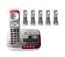 Panasonic 6 or More Handsets Cordless Phones panasonic kx tgm450s 5 kx tgma45s