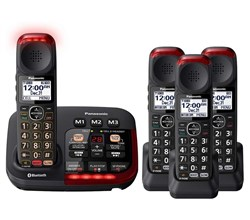 Panasonic Single Line Cordless Phones panasonic kx tgm430b 3 kx tgma44b