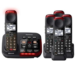 Panasonic Single Line Cordless Phones 5 Handsets panasonic kx tgm430b 4 kx tgma44b