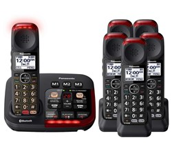 Panasonic Single Line Cordless Phones 6 Handsets panasonic kx tgm430b 5 kx tgma44b