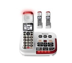 Panasonic Single Line Cordless Phones panasonic kx tgm420w 2 kx tgma44w
