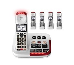 Panasonic Single Line Cordless Phones 5 Handsets panasonic kx tgm420w 4 kx tgma44w