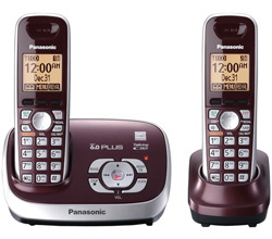Panasonic 2 Handsets Cordless Phones panasonic kx tg6572r