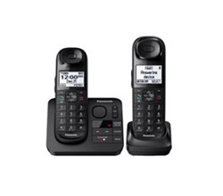 Panasonic 2 Handsets Cordless Phones panasonic kx tgl432b
