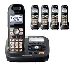 Panasonic Single Line Cordless Phones 5 Handsets panasonic kx tg6592t 3 tga659t
