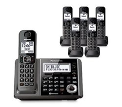 Panasonic Single Line Cordless Phones 6 Handsets panasonic kx tg586sk