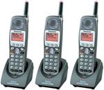 Panasonic KX-TGA650B-R (3 Pack) 5.8GHz Cordless Handset