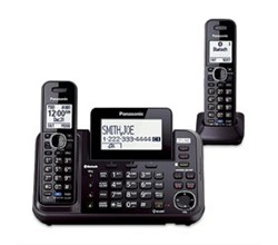 Panasonic 2 Handsets Cordless Phones panasonic kx tg9552b