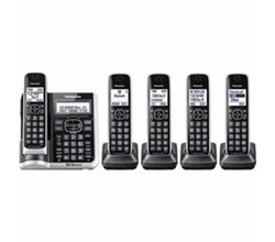 Panasonic 5  Handsets Cordless Phones panasonic kx tg885sk