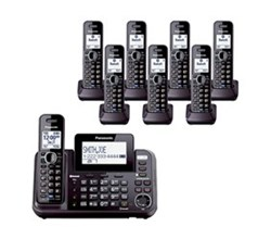 Panasonic DECT 6 Multi Line Phones panasonic kx tg9552b + 6 kx tga950b