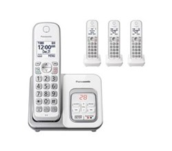 Panasonic Corded Wall Phones panasonic kx tgd532w 4 handset cordless phone