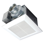 """""""Panasonic FV-05VK3, The Panasonic FV-05VK3 50 CFM Ventilation Fan features an enclosed Dc motor and designed to give trouble-free operation and DC motor which operates at lower temperatures, increasing the life of the motor and bearings"""