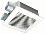 """""""Panasonic FV-11VF2, The Panasonic FV-11VF2 Bathroom Exhaust Fan features a totally enclosed condenser motor and a large, double suction blower wheel to quietly move air"""