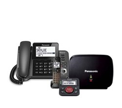 Panasonic Corded Cordless 2 Handsets  panasonic kx tgf380m with range extender and call blocker