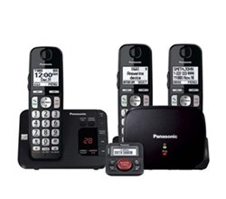 Panasonic DECT 6 0 3 Handsets panasonic kx tge433b with range extender and call blocker