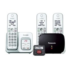Panasonic DECT 6 0 3 Handsets panasonic kx tgd533w with range extender and call blocker