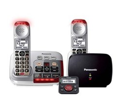 Panasonic Single Line Cordless Phones panasonic kx tgm450s plus 1 kx tgma45s with range extender and call blocker