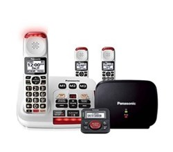 Panasonic DECT 6 0 3 Handsets panasonic kx tgm420w plus 2 kx tgma44w with range extender and call blocker