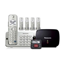 Panasonic Single Line Cordless Phones 5 Handsets panasonic kx tge275s with range extender and call blocker