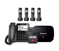 Panasonic Corded Cordless 4 Handsets panasonic kx tgf384m with range extender and call blocker