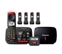 Panasonic Single Line Cordless Phones 5 Handsets Panasonic kx tgm430b Kit with range extender and call blocker