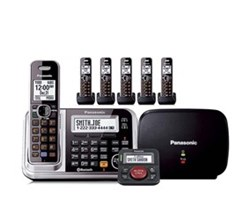 Panasonic Single Line Cordless Phones 6 Handsets panasonic kx tg7875s plus 1 kx tga680s with range extender and call blocker