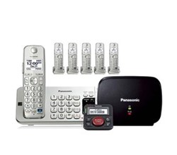Panasonic Single Line Cordless Phones 6 Handsets panasonic kx tge275s plus 1 kx tgea20s with range extender and call blocker