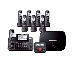 Panasonic Multi Line Phones panasonic kx tg9542b plus 4 kx tga950b with range extender and call blocker