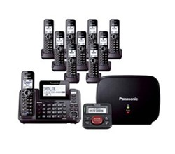 Panasonic Multi Line Phones panasonic kx tg9552b plus 8 kx tga950b with range extender and call blocker