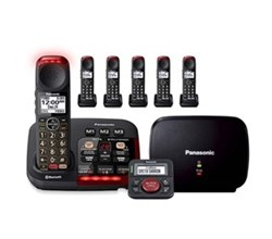 Panasonic Single Line Cordless Phones 6 Handsets panasonic kx tgm430b plus 5 kx tgma44b with range extender and call blocker