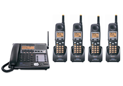 Panasonic KX TG4500B Base and 4 Handsets panasonic kx tg4500b plus 3 kx tga450b