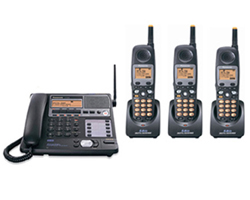 Panasonic KX TG4500B Base and 3 Handsets panasonic kx tg4500b plus 2 kx tga450b