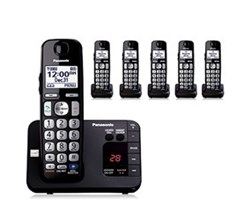Panasonic Single Line Cordless Phones 6 Handsets panasonic kx tge236b