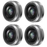 Panasonic H-H020AS (4 Pack) Lumix G 20mm / F1.7 II ASPH. Lens SILVER